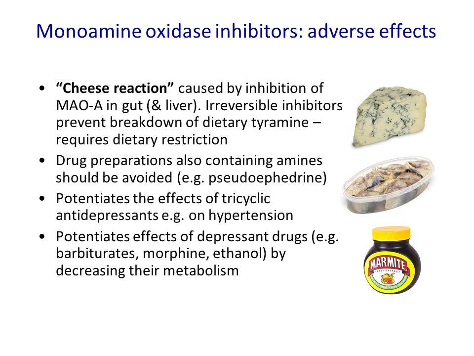 Monoamine oxidase inhibitors: adverse effects