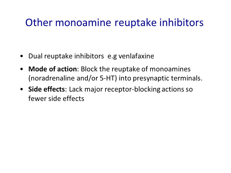Other monoamine reuptake inhibitors