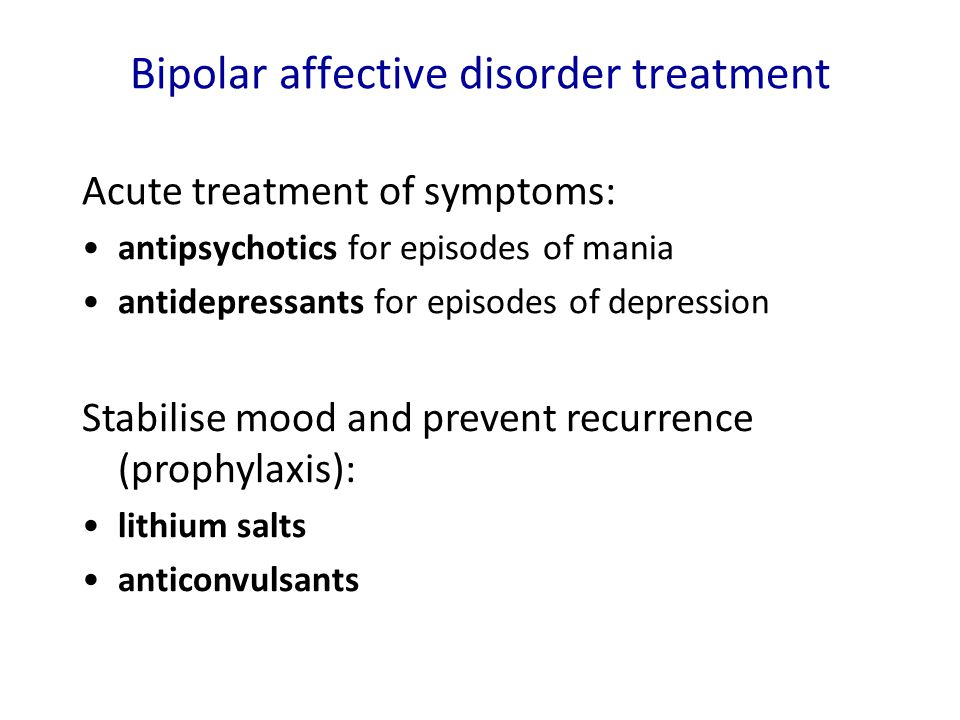 Bipolar affective disorder treatment