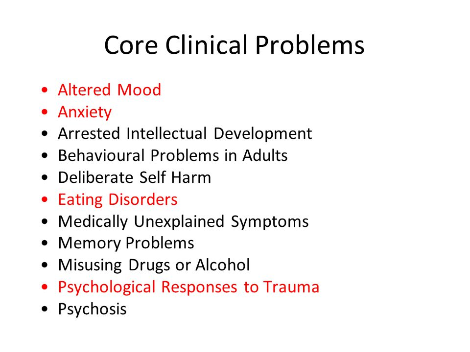 Core Clinical Problems