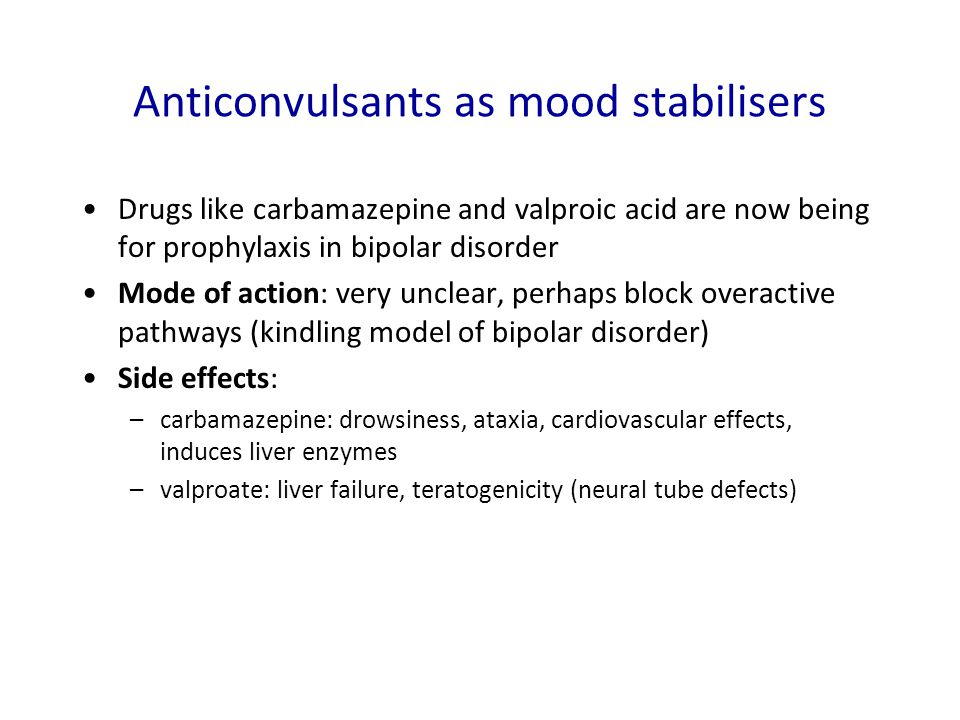 Anticonvulsants as mood stabilisers