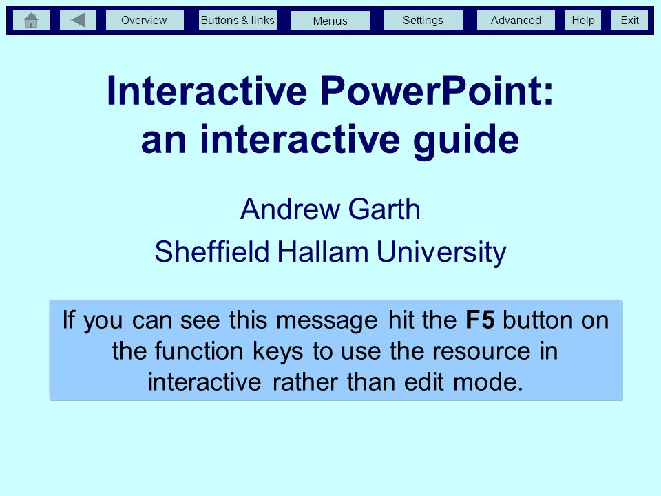 Interactive PowerPoint: an interactive guide
