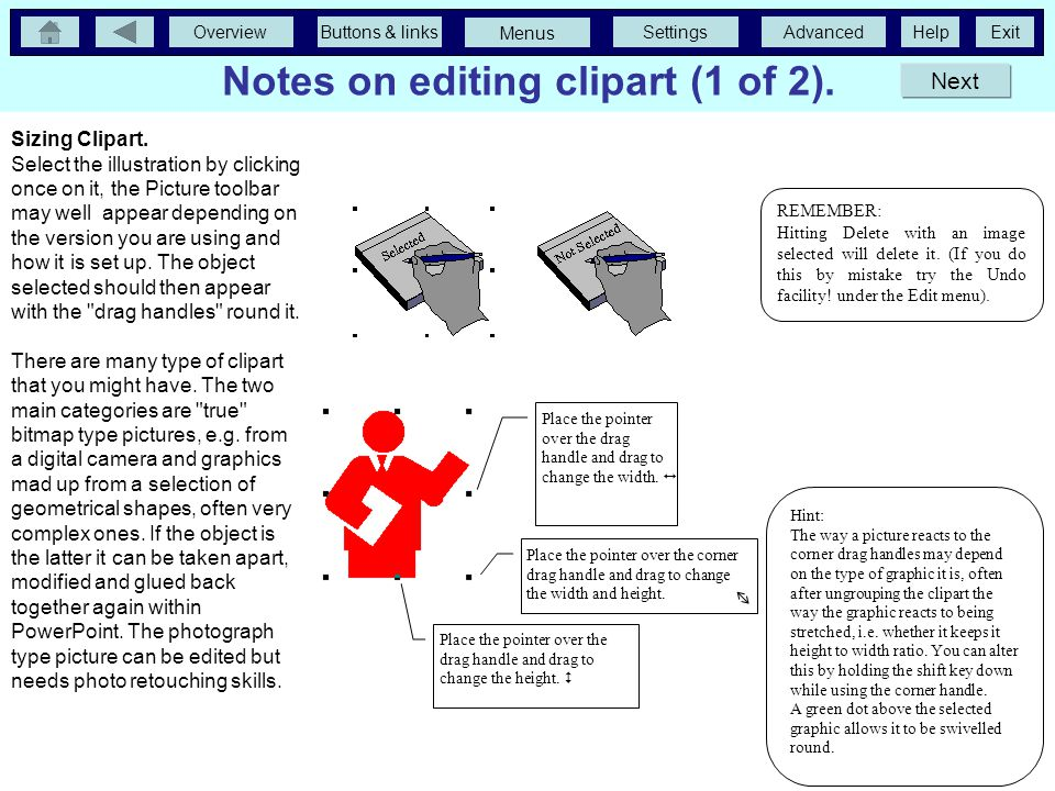 Notes on editing clipart (1 of 2).