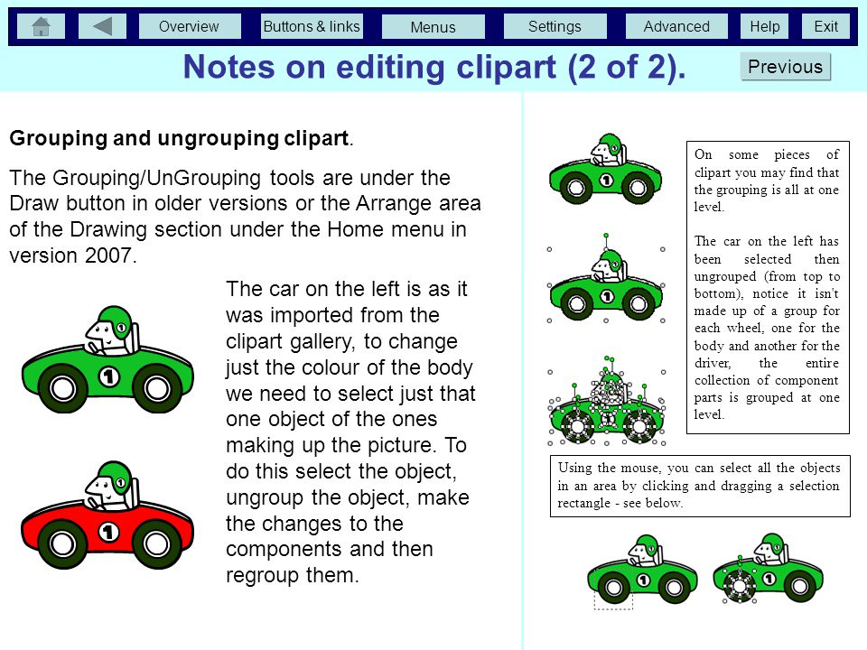 Notes on editing clipart (2 of 2).