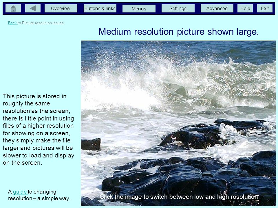 Medium resolution picture shown large.