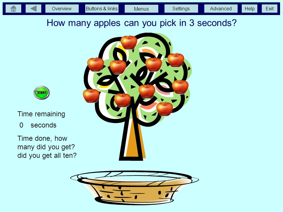 How many apples can you pick in 3 seconds