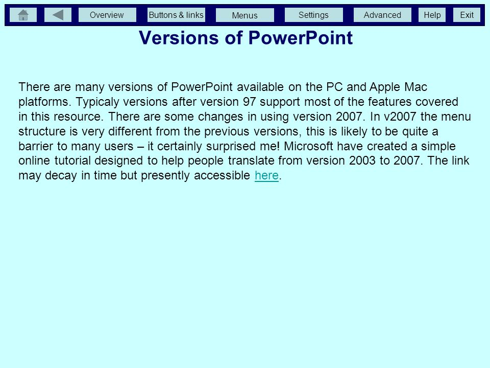 Versions of PowerPoint