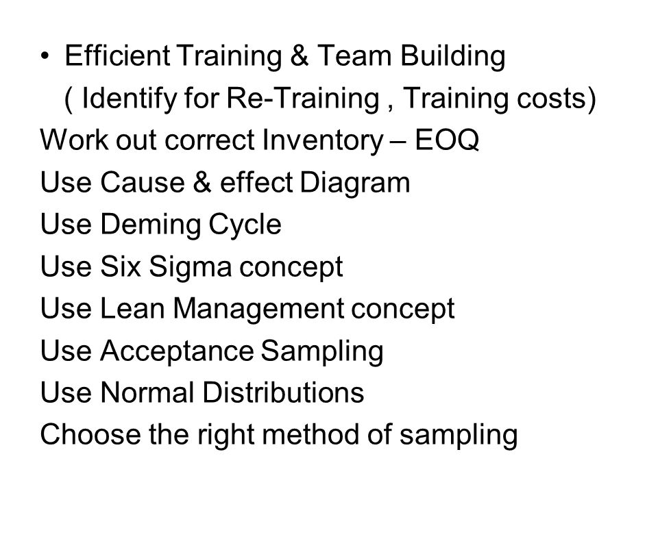 Efficient Training & Team Building