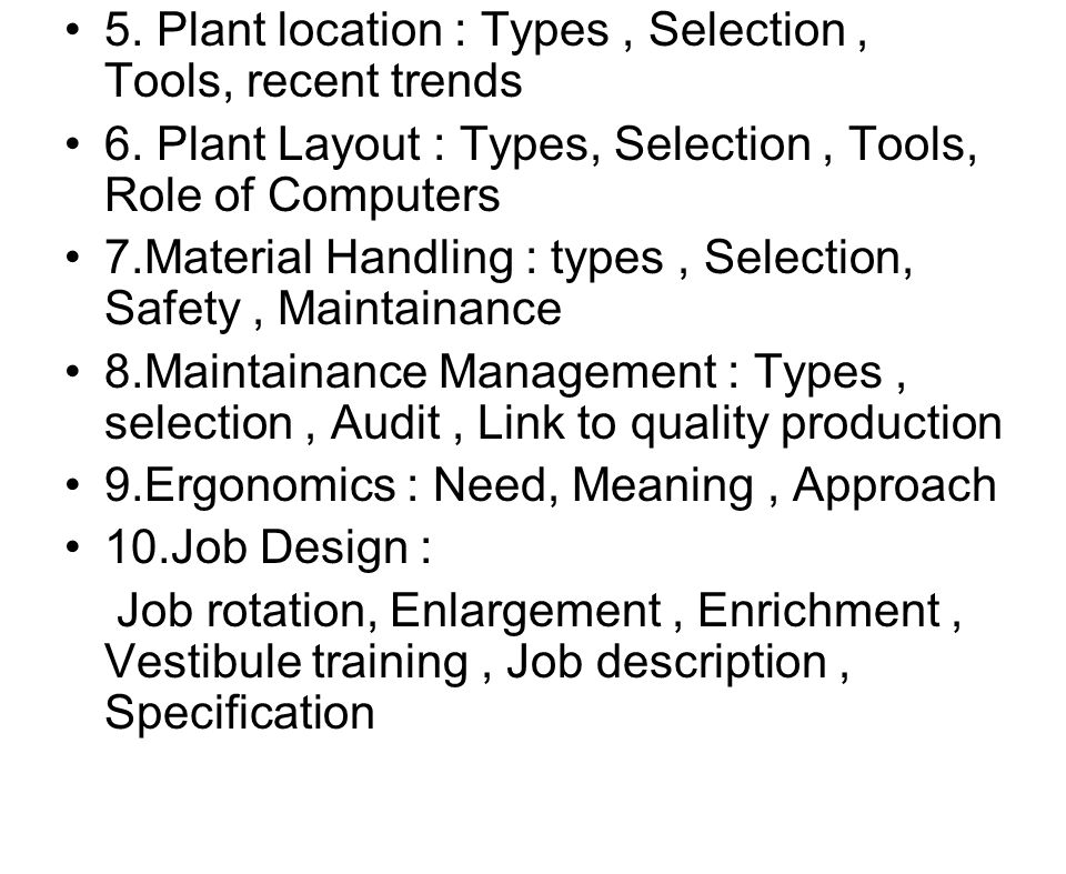Quality Control Job Description. 6 5 Production Management
