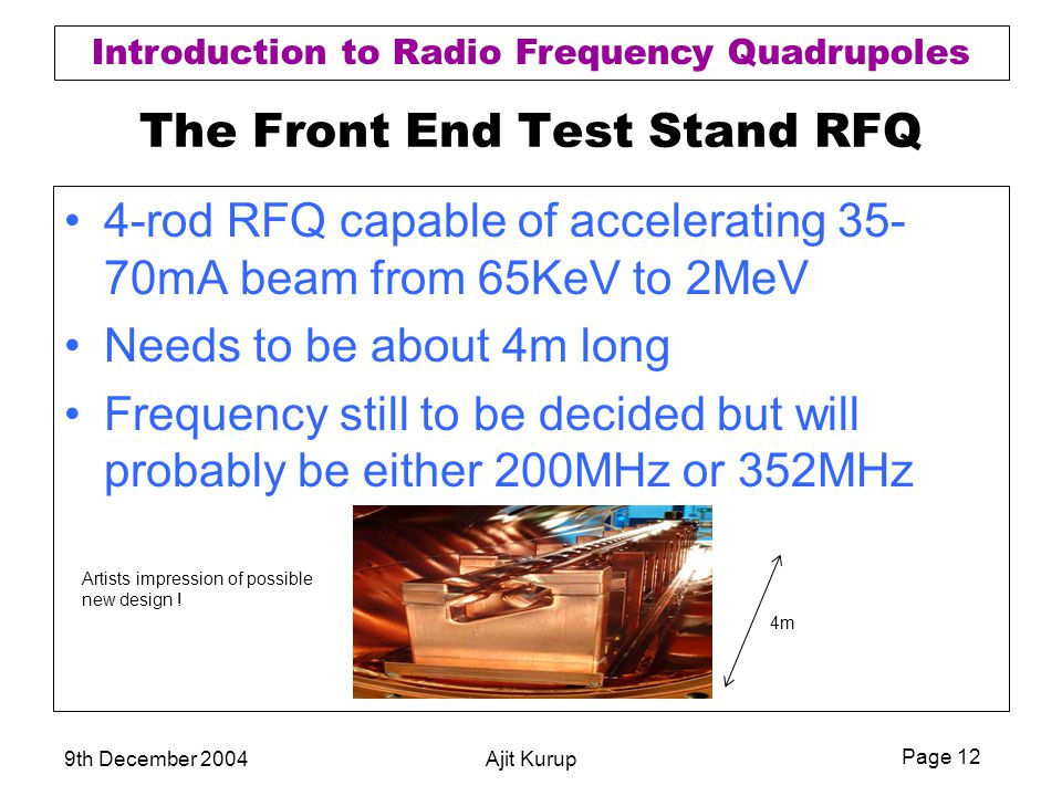 The Front End Test Stand RFQ