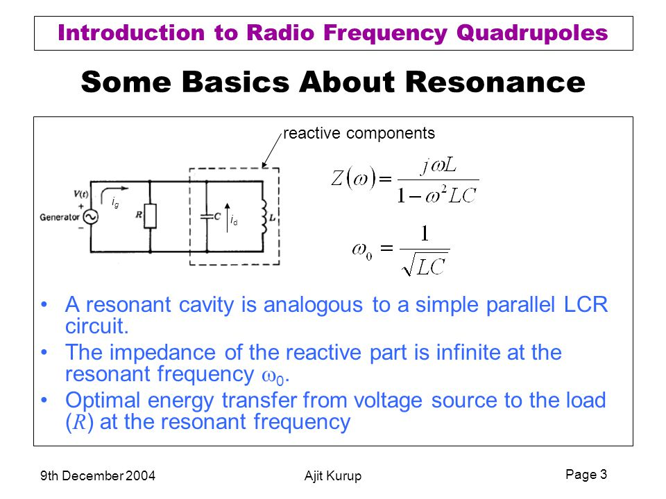 Some Basics About Resonance