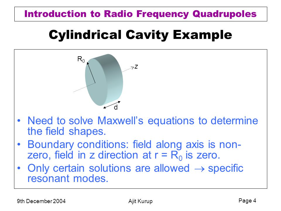 Cylindrical Cavity Example