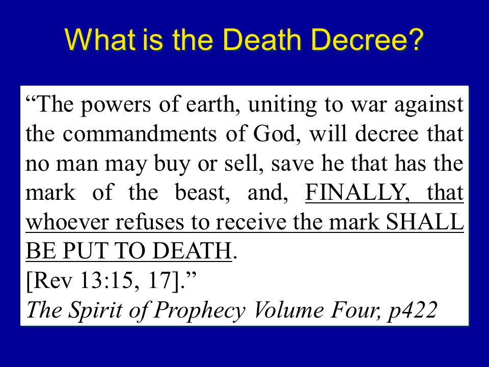 What is the Death Decree