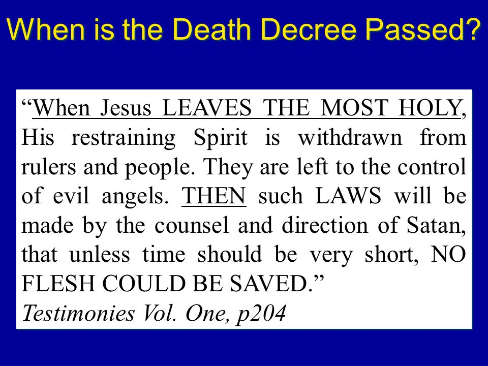 When is the Death Decree Passed