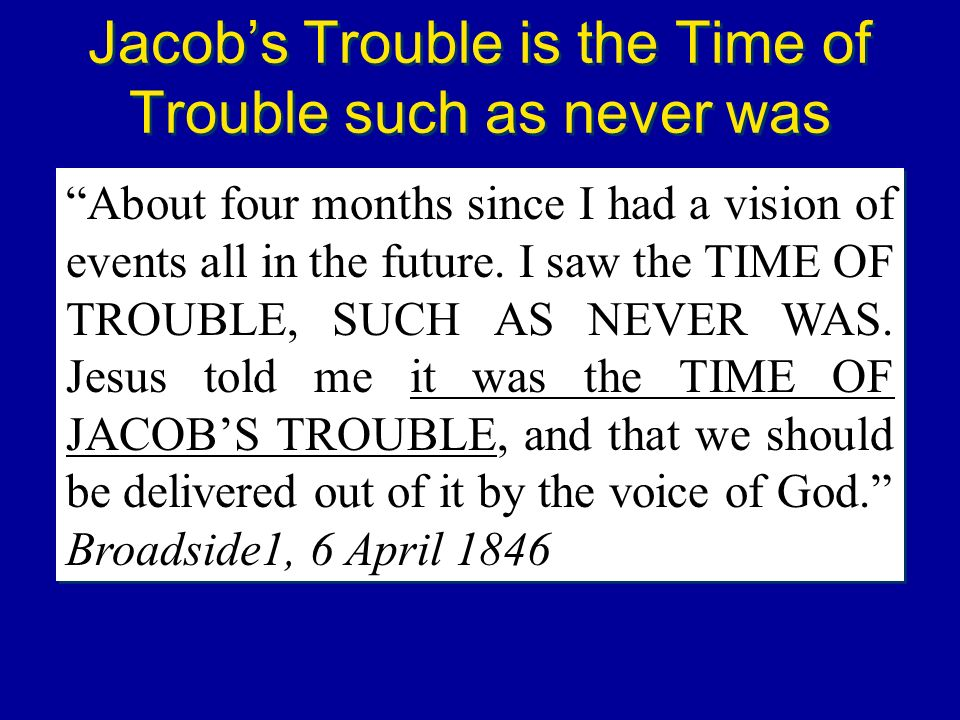 Jacob's Trouble is the Time of Trouble such as never was