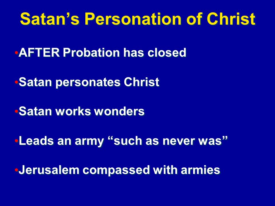 Satan's Personation of Christ