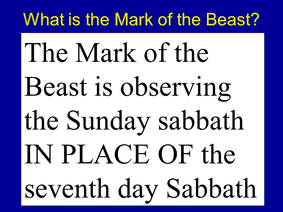 What is the Mark of the Beast
