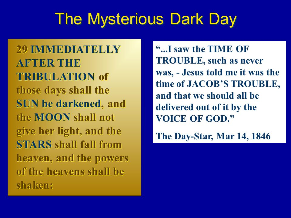 The Mysterious Dark Day