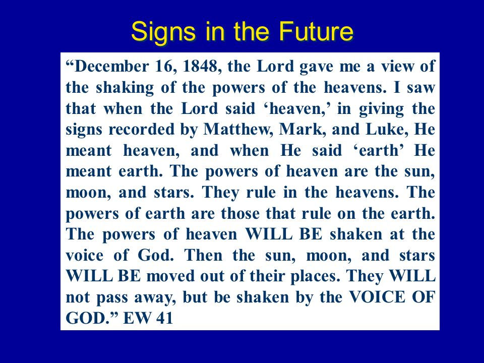 Signs in the Future