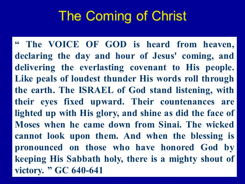 The Coming of Christ
