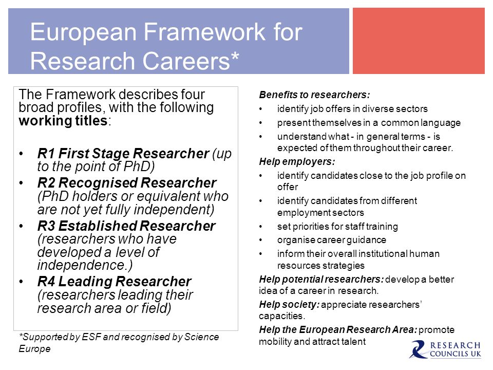 European Framework for Research Careers*