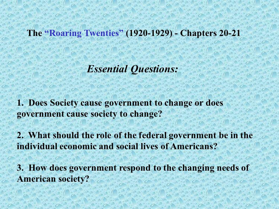 The Roaring Twenties (1920-1929) - Chapters 20-21