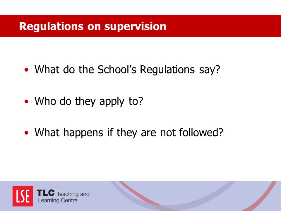 Regulations on supervision