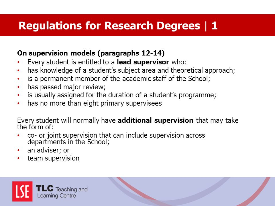Regulations for Research Degrees | 1