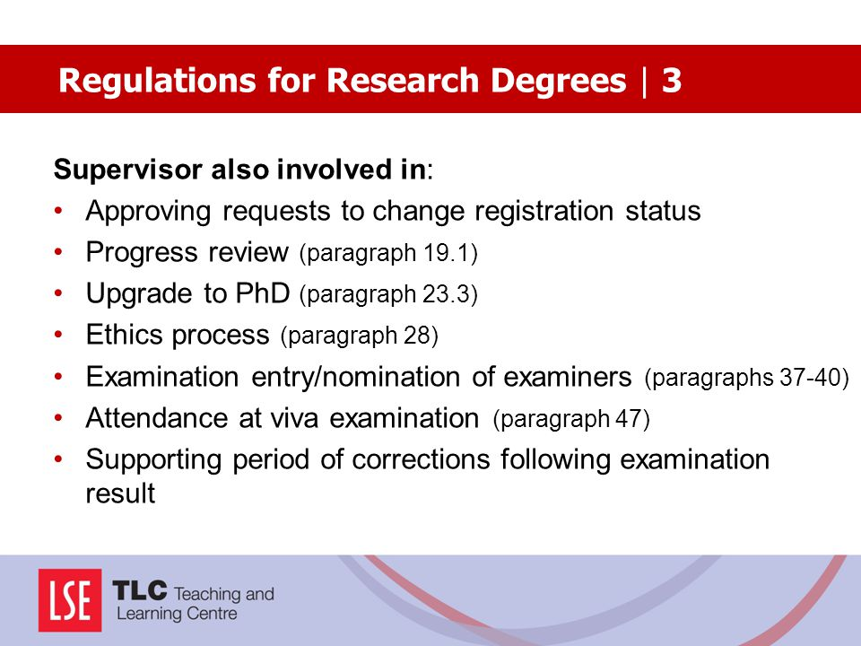 Regulations for Research Degrees | 3