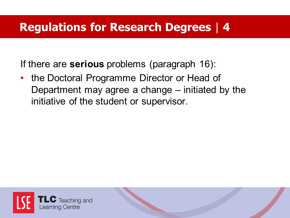 Regulations for Research Degrees | 4