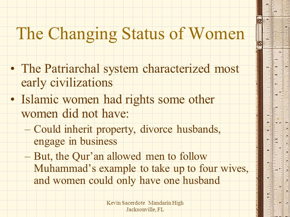 The Changing Status of Women