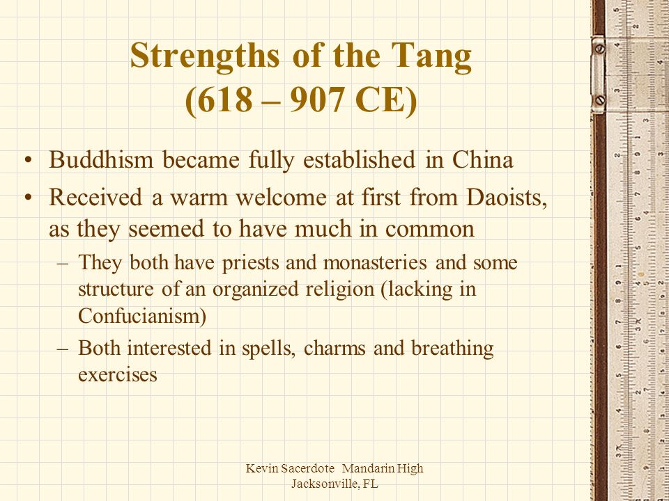 Strengths of the Tang (618 – 907 CE)