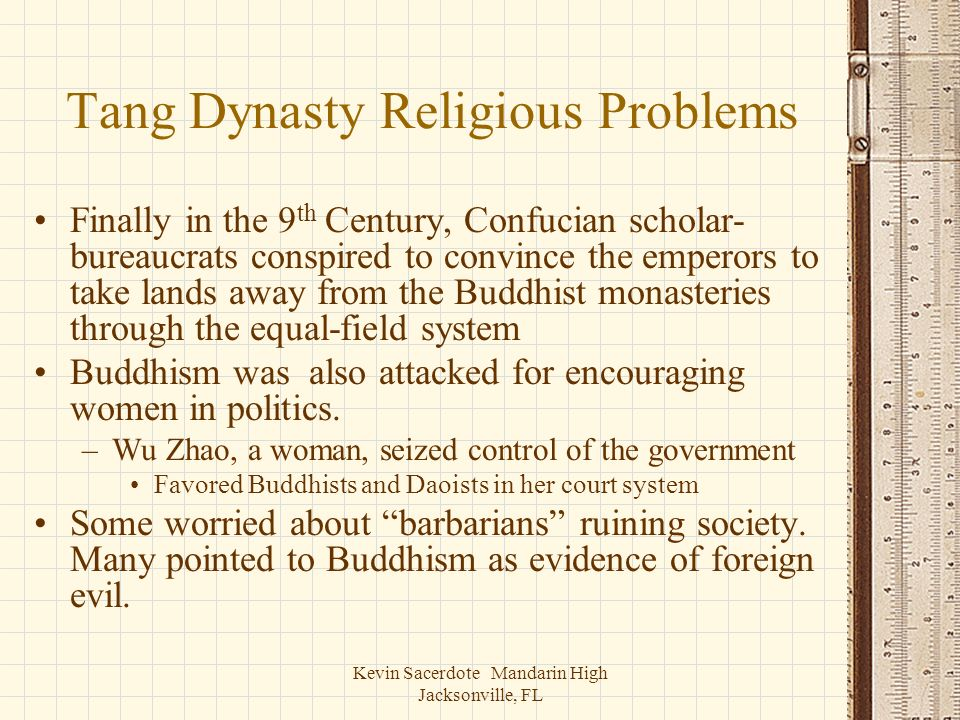 Tang Dynasty Religious Problems