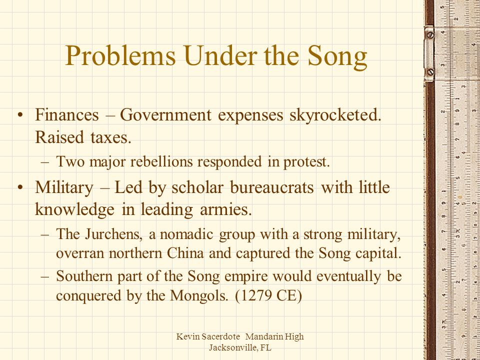 Problems Under the Song
