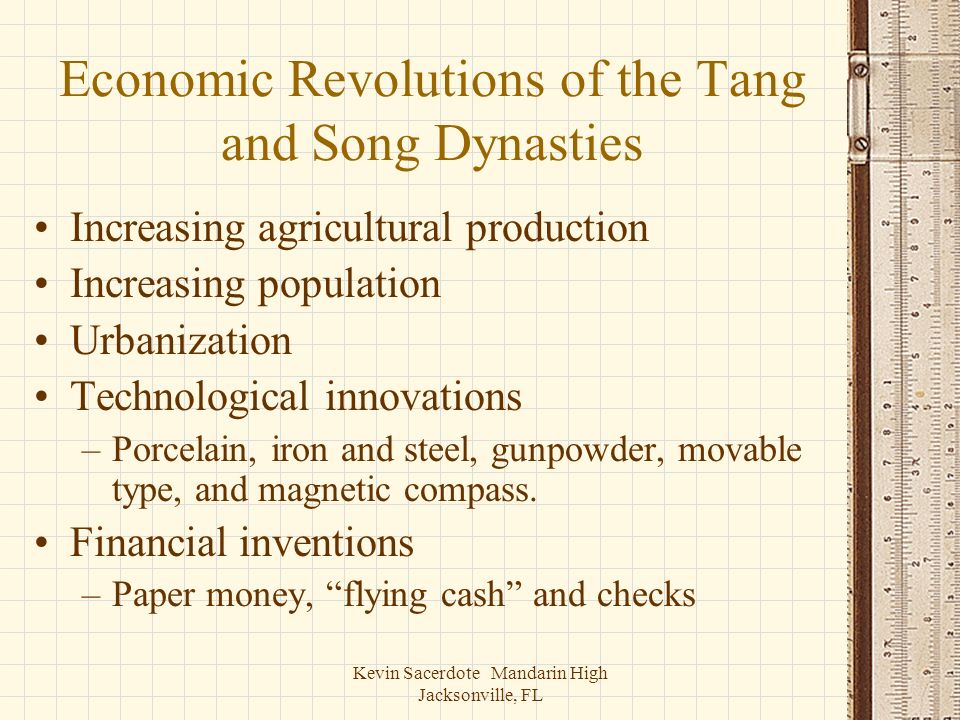 Economic Revolutions of the Tang and Song Dynasties