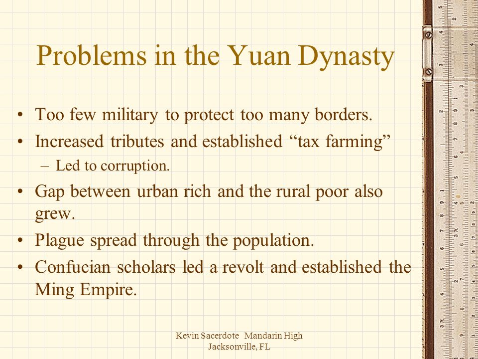 Problems in the Yuan Dynasty
