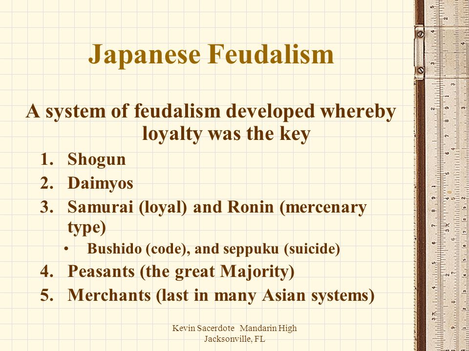 A system of feudalism developed whereby loyalty was the key