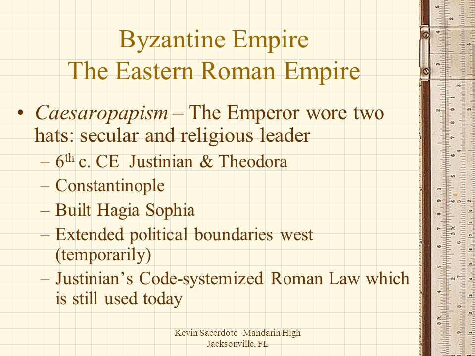 Byzantine Empire The Eastern Roman Empire