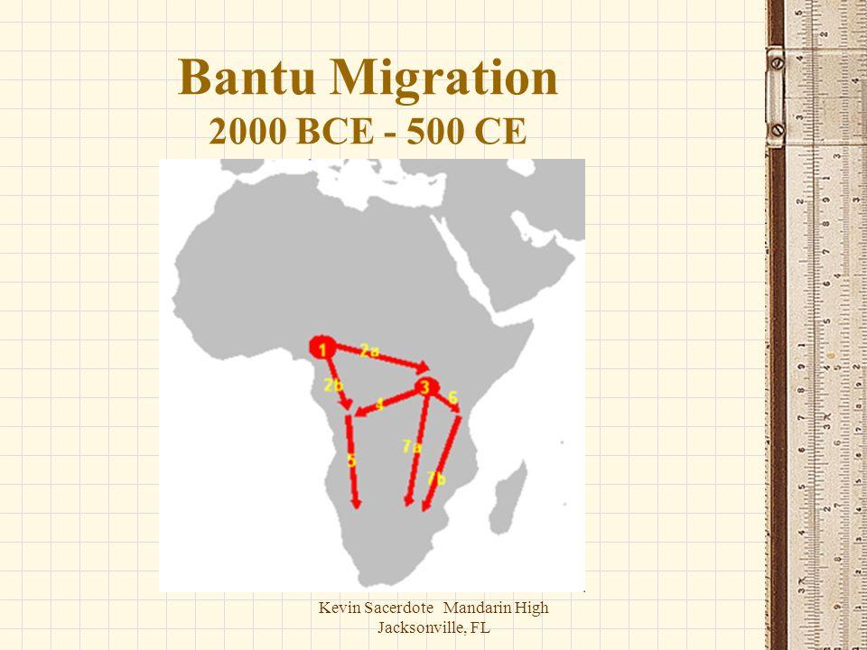 Bantu Migration 2000 BCE - 500 CE