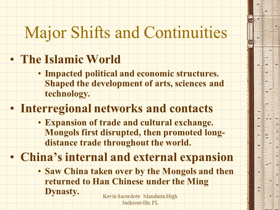 Major Shifts and Continuities
