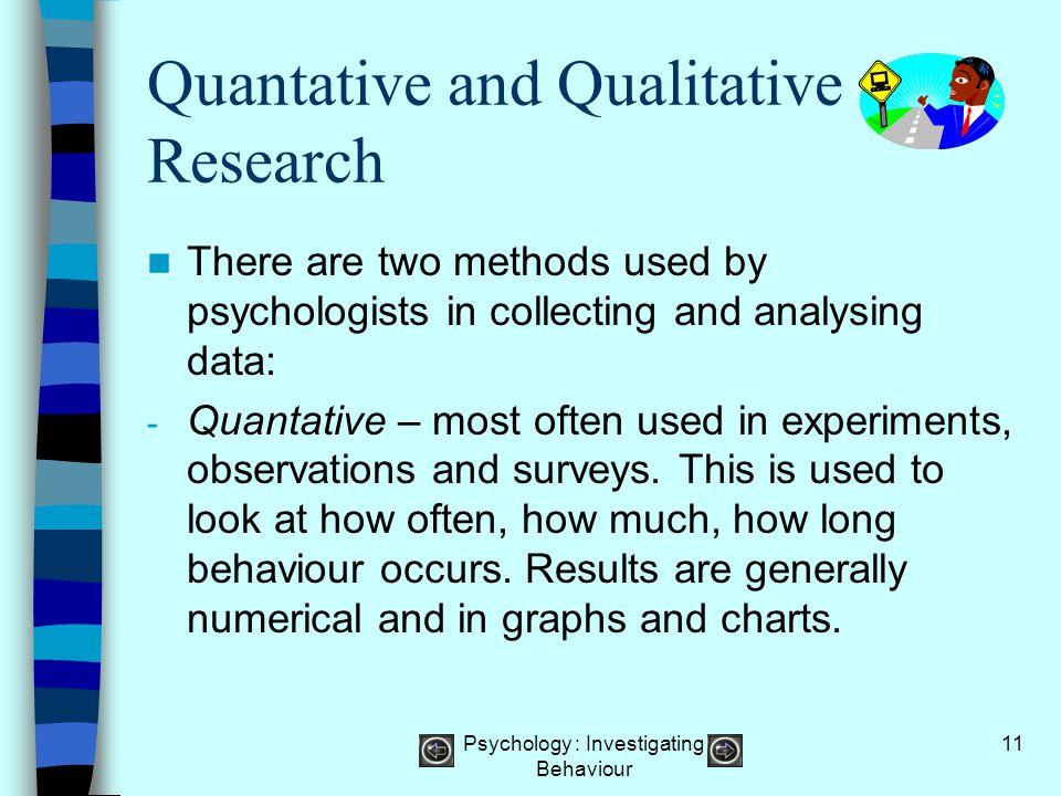 Quantative and Qualitative Research