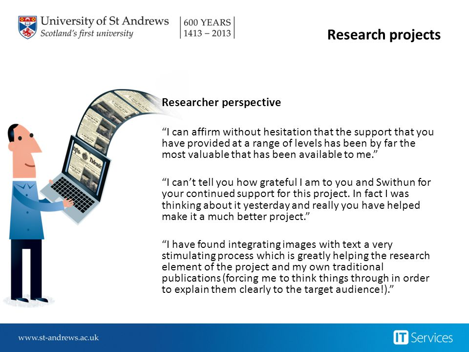 Research projects Researcher perspective