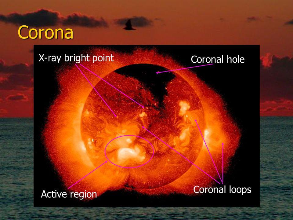 Corona X-ray bright point Coronal hole Coronal loops Active region