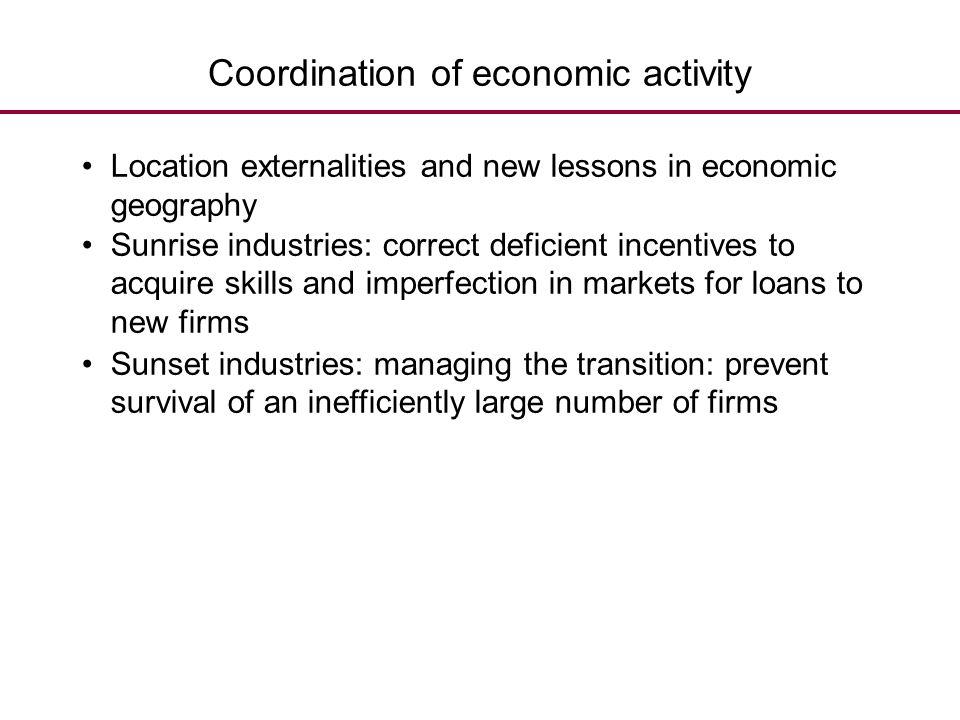 Coordination of economic activity