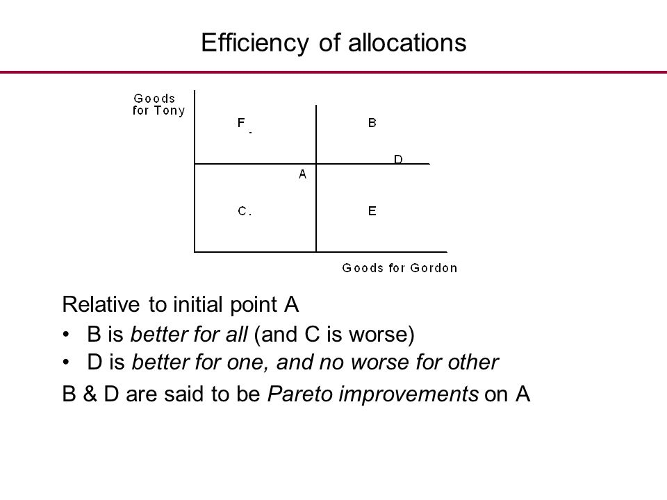 Efficiency of allocations