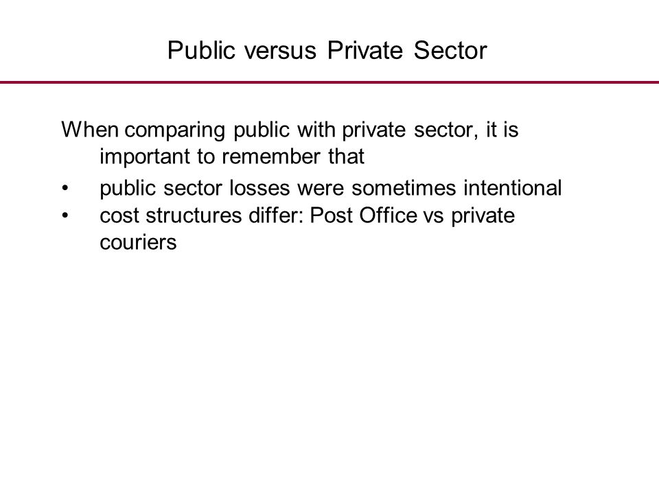 Public versus Private Sector