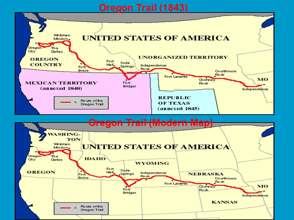 Oregon Trail (Modern Map)