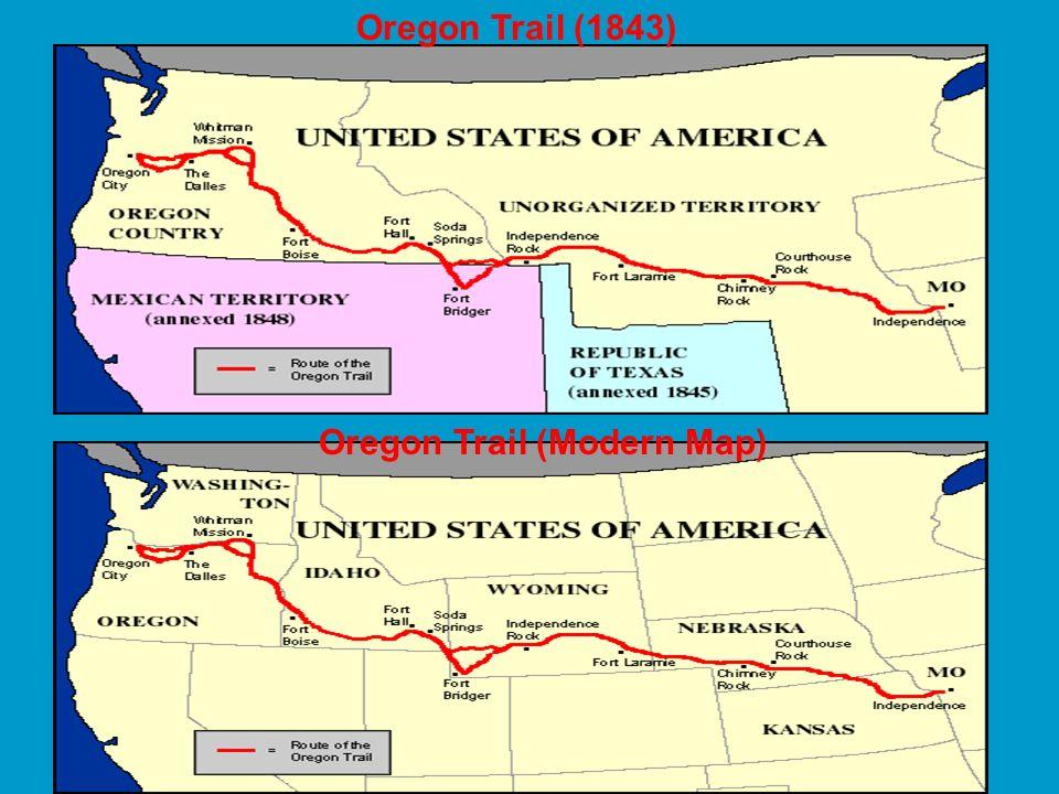 Oregon Trail (Modern Map)
