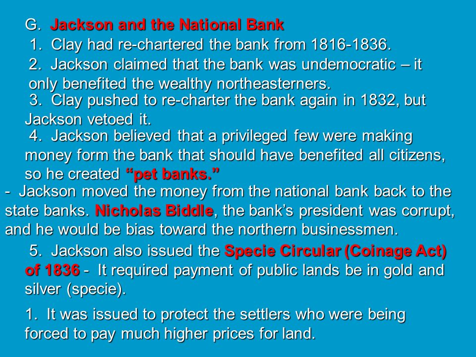 G. Jackson and the National Bank