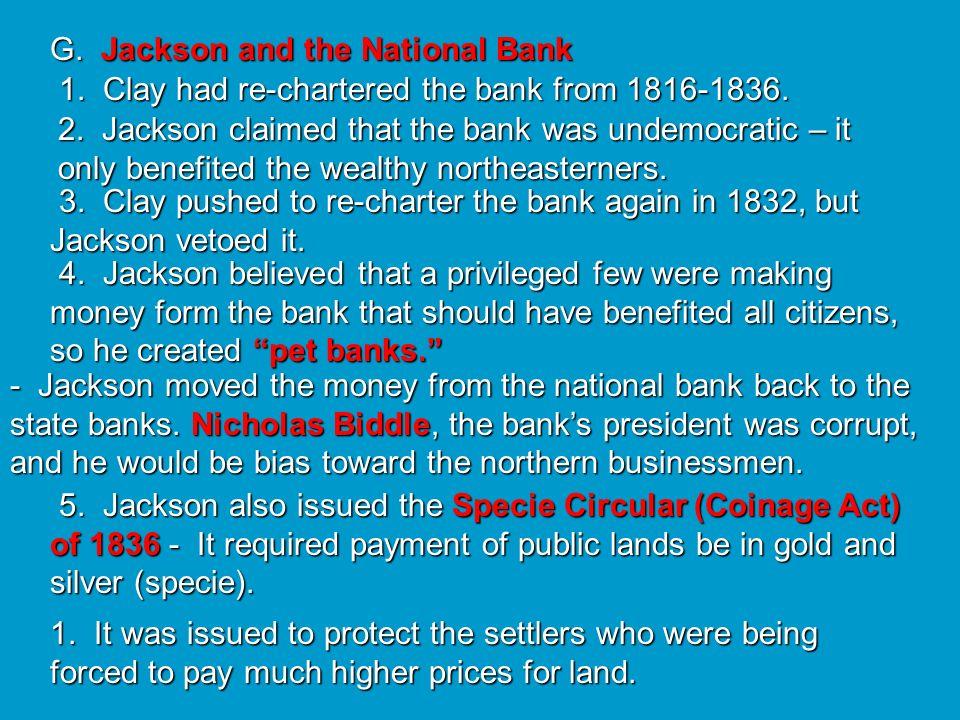 G. Jackson and the National Bank